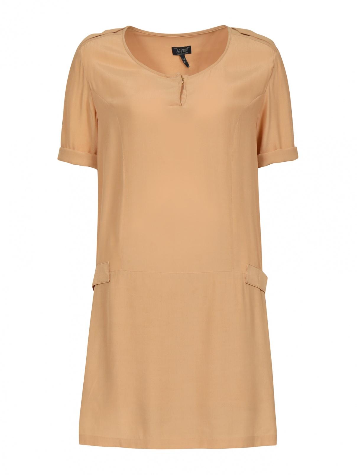 Свободное платье-мини с карманами на молнии Armani Jeans  –  Общий вид