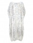 Платье свободного кроя из шелка с аппликацией Daniela de Souza  –  Общий вид