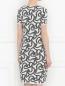 Платье свободного кроя с узором Max Mara  –  Модель Верх-Низ1