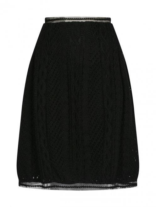 Кружевная юбка из шерсти - Общий вид