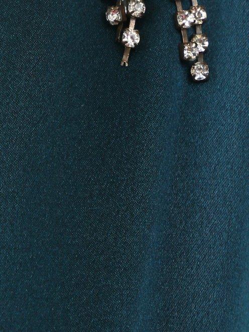 Платье-макси декорированное кристаллами - Деталь1