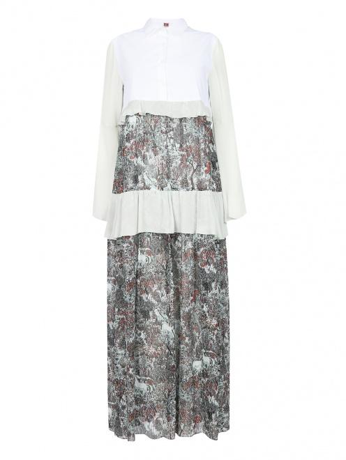 Платье-макси свободного кроя с узором - Общий вид