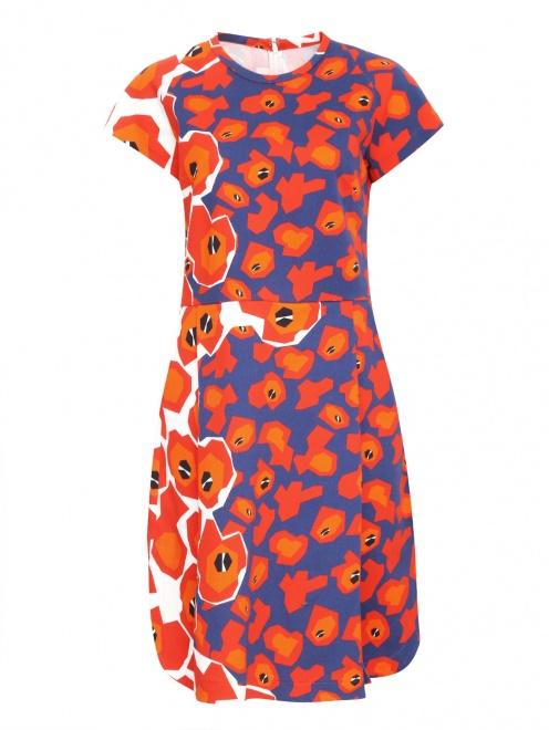 Платье из хлопка с цветочным узором - Общий вид