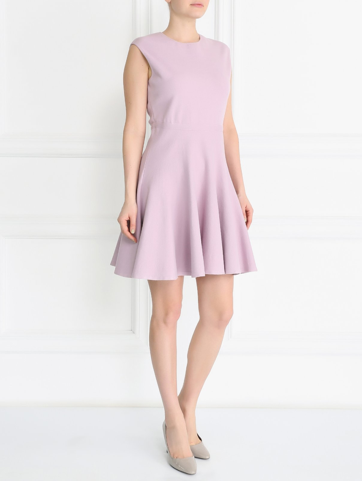 Трикотажное платье-мини из вискозы и шерсти Giambattista Valli  –  Модель Общий вид