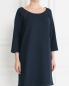 Платье-мини свободного кроя с контрастной отделкой Paul&Joe Sister  –  Модель Верх-Низ