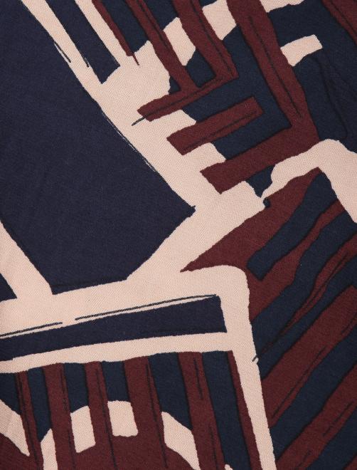 Укороченные брюки из вискозы с узором - Деталь