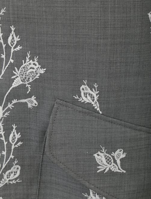 Пальто из шерсти с вышивкой - Деталь1
