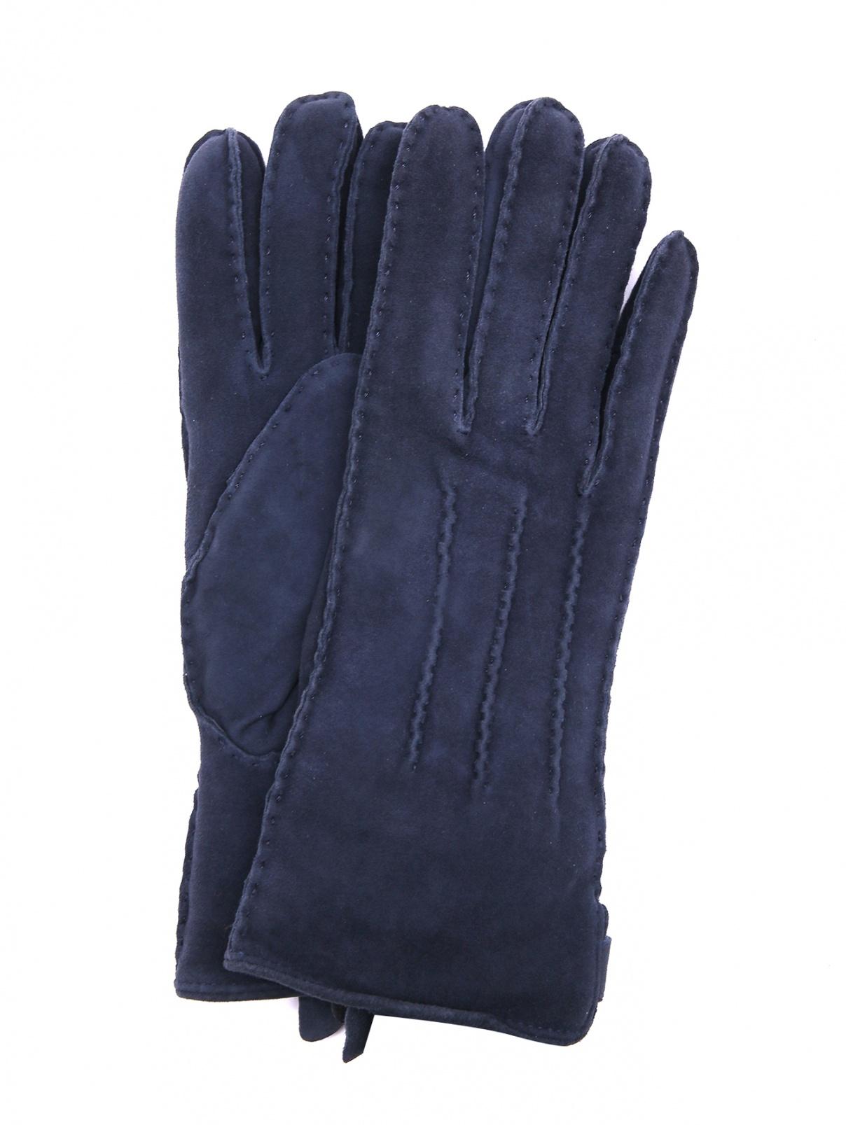 Перчатки из замши Joop!  –  Общий вид  – Цвет:  Синий