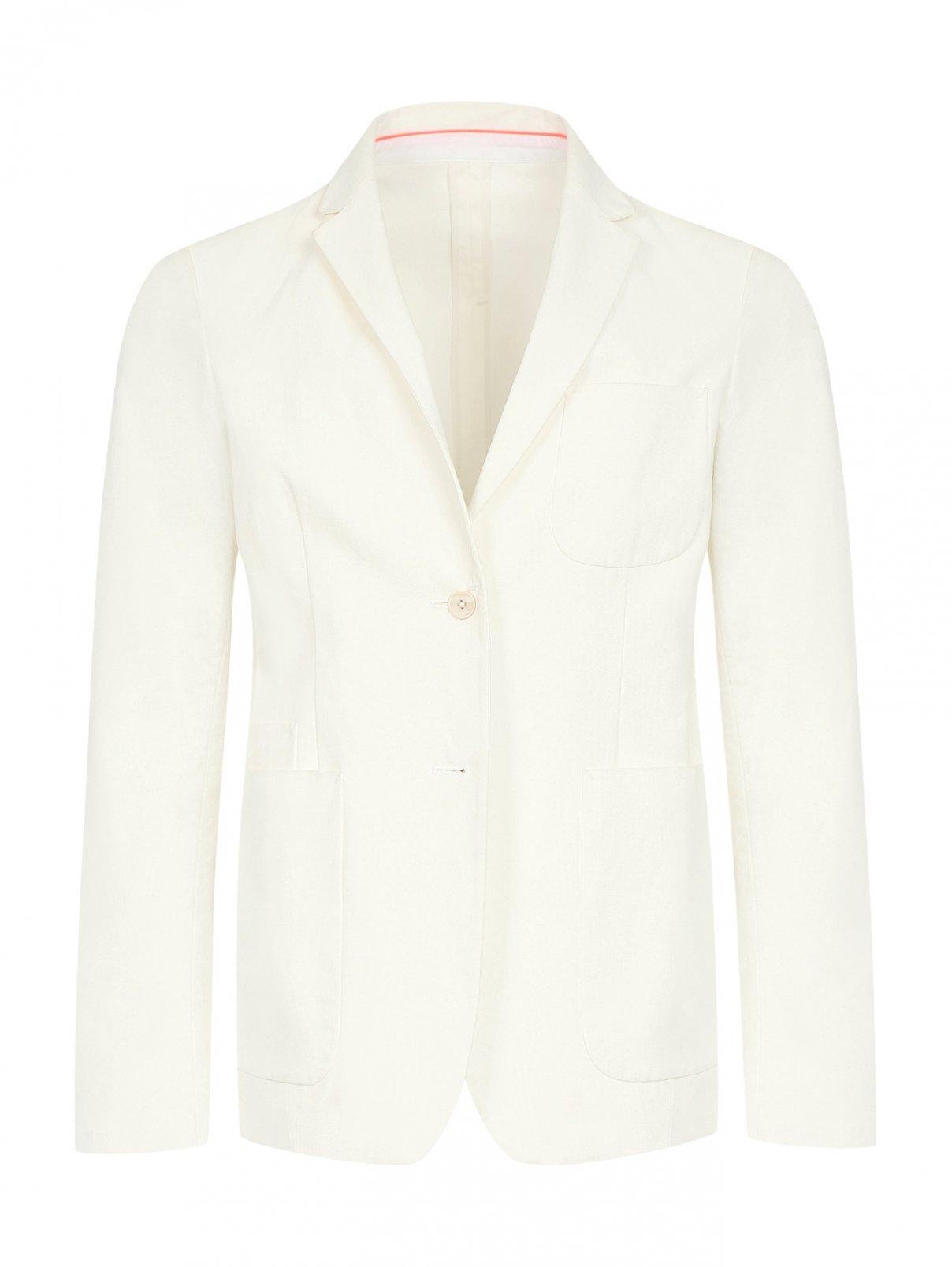 Пиджак однобортный из льна и хлопка Jil Sander  –  Общий вид