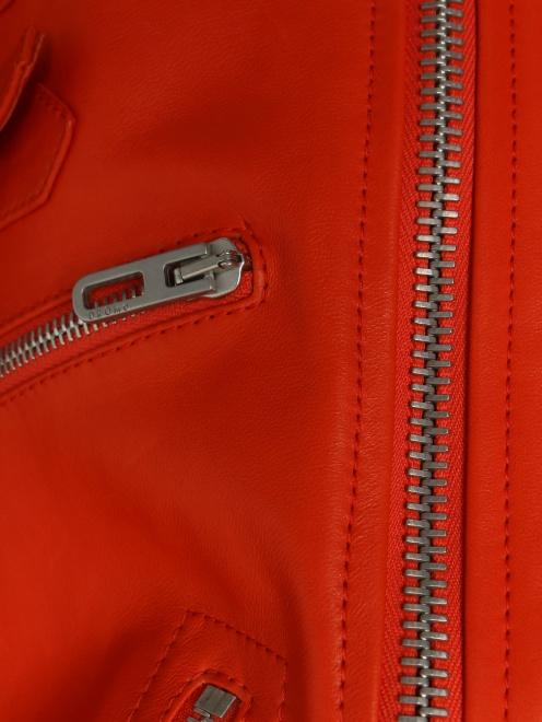 Куртка кожаная на молнии  - Деталь1