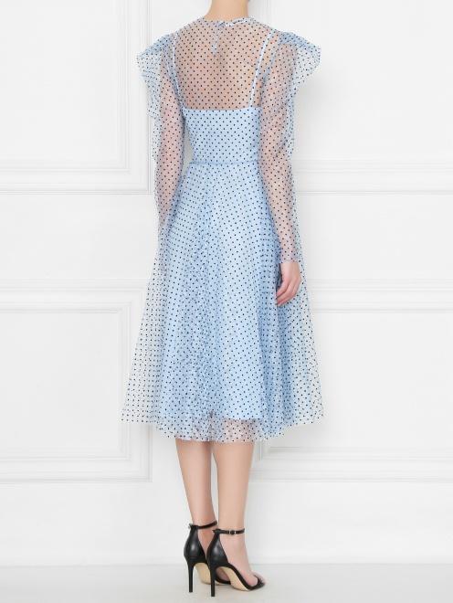 Платье из сетки в горох  - МодельВерхНиз1