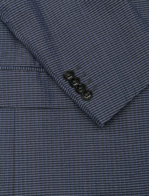 Пиджак однобортный из шерсти и шелка - Деталь
