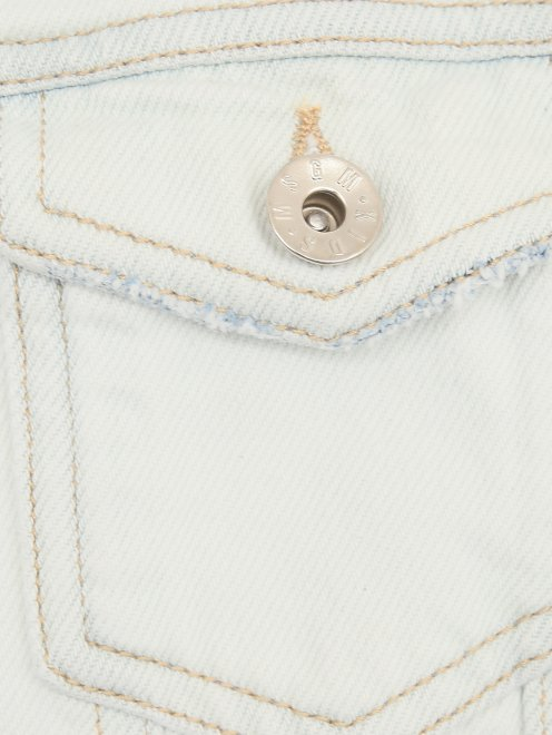 Куртка из денима с принтом - Деталь