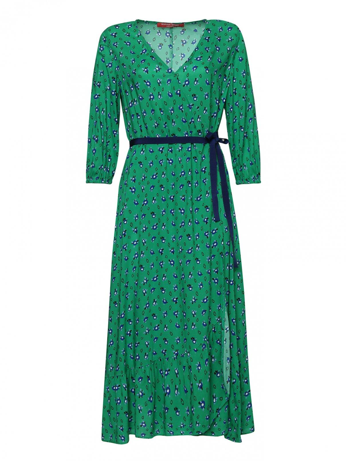 Платье из вискозы, с цветочным узором Marina Rinaldi  –  Общий вид