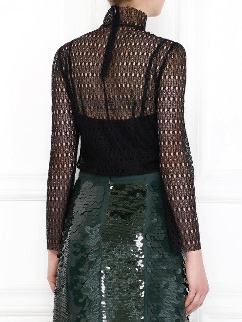 Ажурная блуза с длинными рукавами - Модель Верх-Низ1
