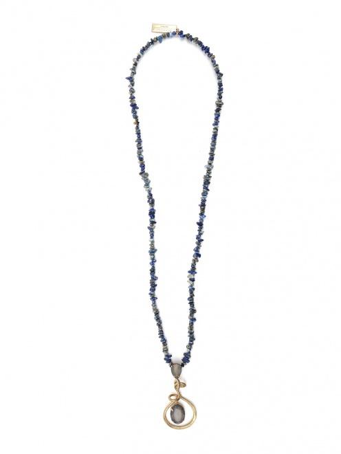 Ожерелье из кварца с металлической подвеской - Общий вид