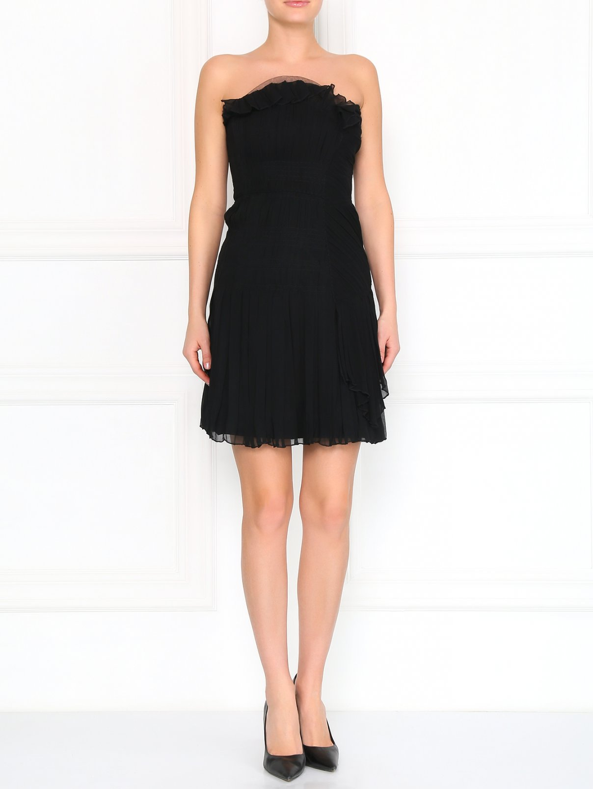 Платье-мини из шелка без бретелей Philosophy di Alberta Ferretti  –  Модель Общий вид