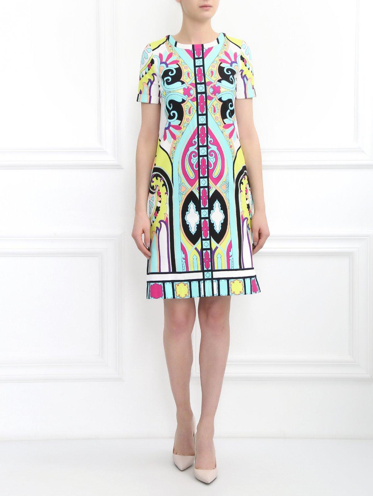 Платье из хлопка с узором Etro  –  Модель Общий вид
