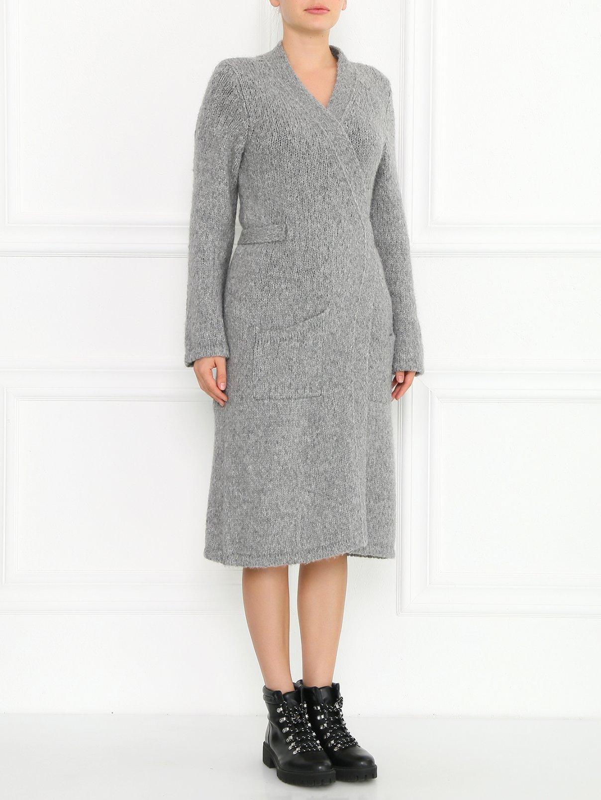 Удлиненный кардиган из смешанной шерсти крупной вязки Maison Martin Margiela  –  Модель Общий вид