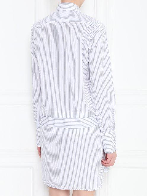 Платье рубашка из хлопка с отстегивающимися деталями - МодельВерхНиз1