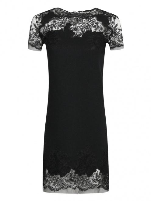 Платье из шерсти ,шелка и кашемира с кружевом - Общий вид