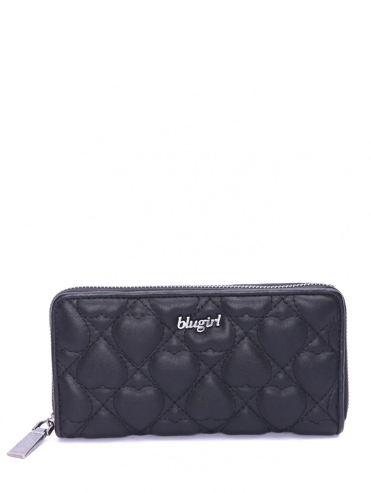 Стеганый кошелек на молнии BLUGIRL BAGS  –  Общий вид  – Цвет:  Черный