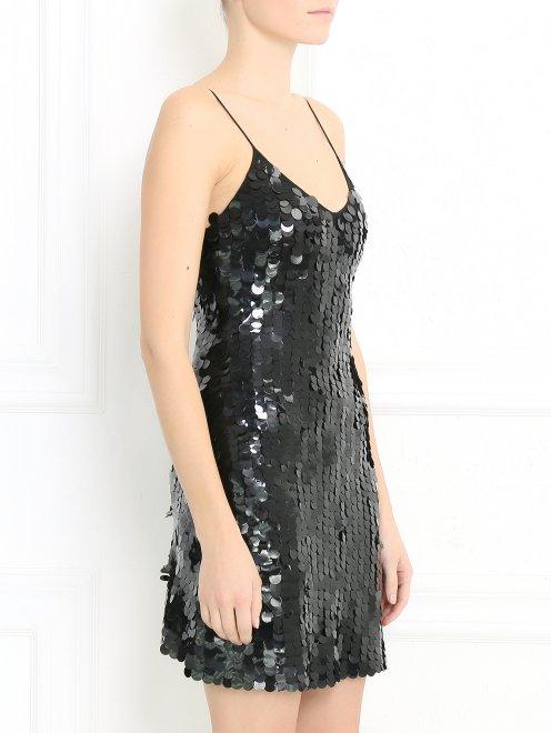 Платье-мини расшитое пайетками  - Модель Верх-Низ