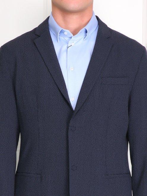 Пиджак из шерсти и шелка - Модель Общий вид1