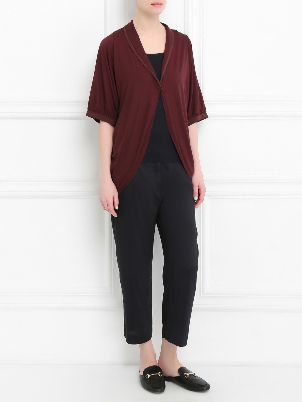 Блуза асимметричного кроя La Perla  –  Модель Общий вид  – Цвет:  Красный