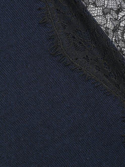 Джемпер из вискозы с декором кружевом - Деталь