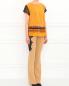 Брюки-клеш с кружевными вставками Versace  –  Модель Общий вид