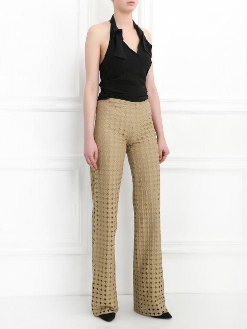 Широкие хлопковые брюки - Общий вид
