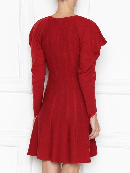Платье из шерсти с объемными рукавами - МодельВерхНиз1