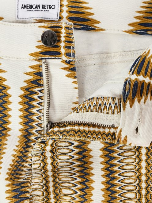 Зауженные джинсы с узором  - Деталь1