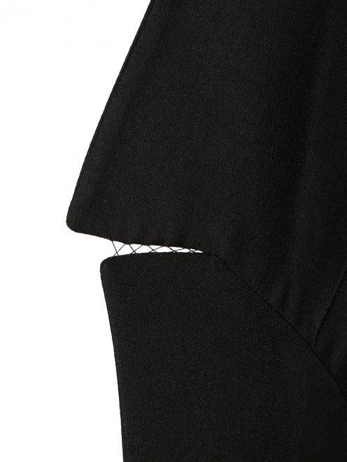Жакет из шерсти и шелка с объемными рукавами и кружевом - Деталь1