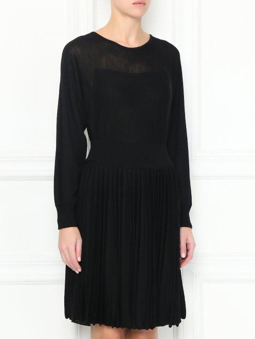 Трикотажное платье из шерсти - МодельВерхНиз