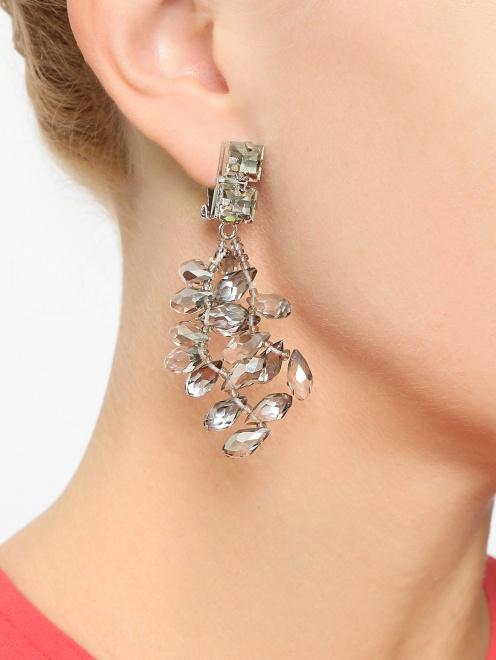 Клипсы из металла с кристаллами  - Общий вид
