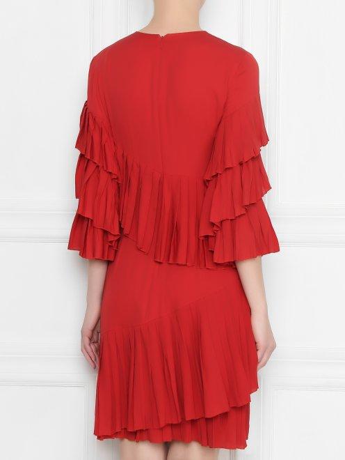 Платье шелковое, с воланами - МодельВерхНиз1