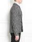 Пиджак из шерсти и хлопка  узором Emporio Armani  –  Модель Верх-Низ2