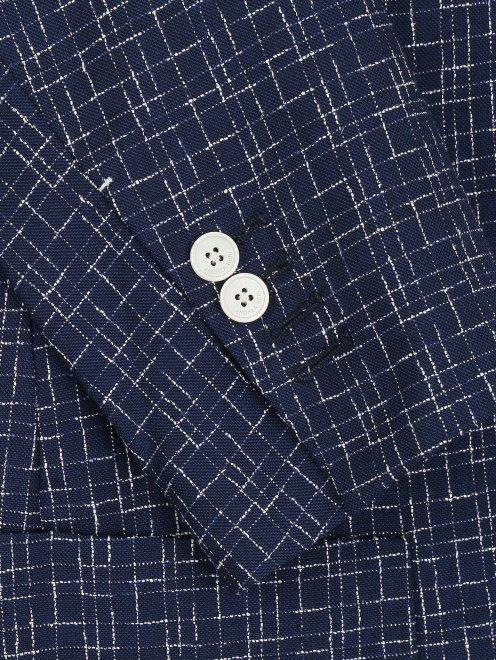 Пиджак с узором из шерсти и шелка - Деталь1
