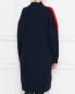 Платье двухцветное крупной вязки Jil Sander Navy  –  МодельВерхНиз1