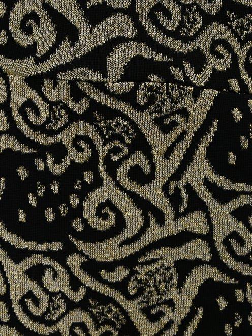 Платье из фактурной ткани с узором  - Деталь1
