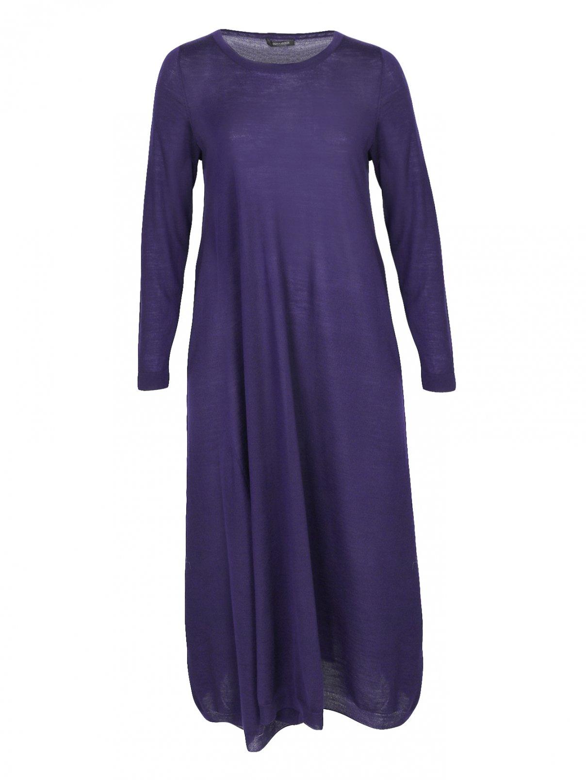 Платье-миди из шерсти свободного кроя Marina Rinaldi  –  Общий вид