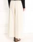 Укороченные широкие брюки из шерсти на резинке Barbara Bui  –  Модель Верх-Низ1
