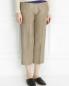 Укороченные брюки из шелка Maurizio Pecoraro  –  Модель Верх-Низ
