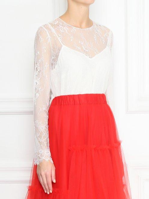 Блуза из кружева на подкладе - МодельВерхНиз