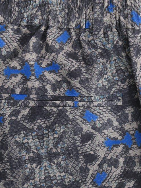 Укороченные брюки из полиэстера с узором - Деталь1