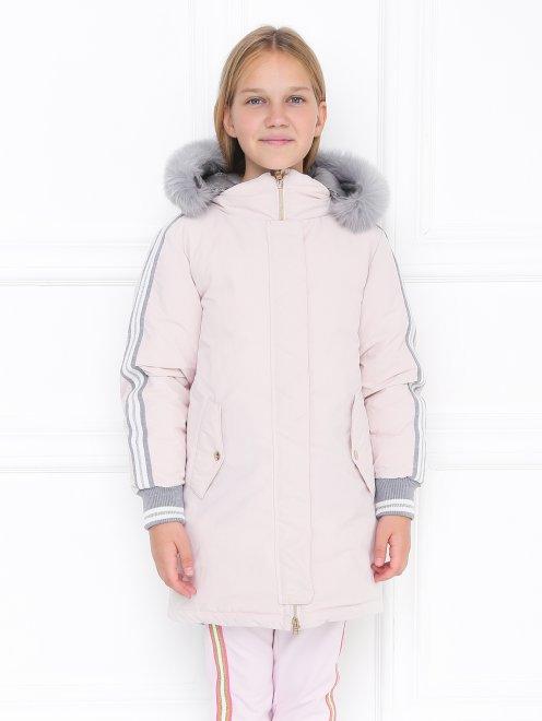 Куртка удлиненная с капюшоном - МодельВерхНиз